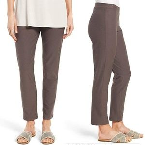 Eileen Fisher Crepe Slim Ankle Washable Pants XL